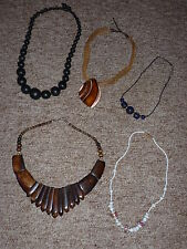 costume jewellery necklaces x 5 mixed lot of costume jewellery beads