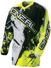 Oneal Black-Hi Viz 2017 Element Shocker Kids Long Sleeved MTB Jersey
