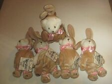 LOT Vintage Ganz Teddy Wee Bear Village Tag He2167 Easter Bunny Rabbit Costume 5