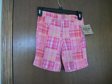 Route 66 Pink Plaid Shorts  NWT 6X