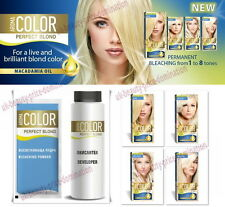 Permanent Hair Lightener Blonde Colors 45ml w Macadamia Oil Aroma Color Bleach