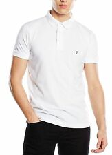 French Connection Men's Cotton Polo Shirt Top T-shirt New Light Summer White