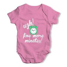 Twisted Envy Five More Minutes Baby Unisex Funny Baby Grow Bodysuit