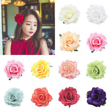 Ladies Big Blooming Rose Flower Hair Clip Brooch Wedding Party Bride Hairpin Hot