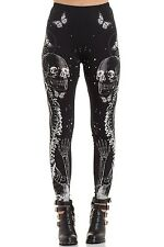 Jawbreaker Clothing - Women's Black Illustrated Death Leggings