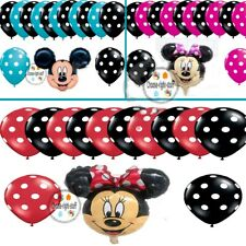 """12"""" inch POLKA DOT & 18"""" inch MINNIE MOUSE FOIL BALLOONS MIX PACK OF baloons"""