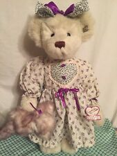 NWT Jointed Teddy Bear Annette Funicello Collectible Bear Company 21
