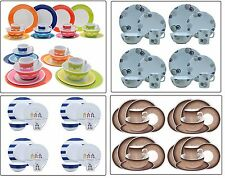16pcs Dinner Set Plates Bowls Cups BBQ Camping Fishing Picnic Outdoor Dining Set