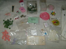 VTG  Huge Lot MINIATURE DOLLHOUSE ACCESSORIES Supplies Hobbyist crafting items