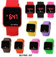 LED Digital Screen Wrist Watch For Men Women Unisex School Boys Girls Kids