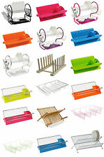 Wooden/Plastic/2 Tier Dish Drainer Rack Storage Drip Tray Plates Drying Draining