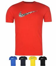SALDI Nike Swoosh Just Do It Quote T Shirt Mens Red