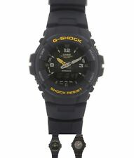 NEW Casio Mens G Shock Antimagnetic Alarm Chronograph Watch Black