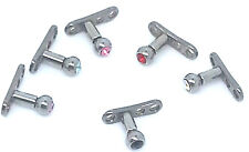 Complete Tiny Dermal 2mm Ball Gem Tops & Anchor Base Foot Body Piercing