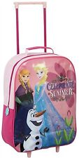 NEW DISNEY FROZEN PINK TROLLEY BAG WITH WHEELS