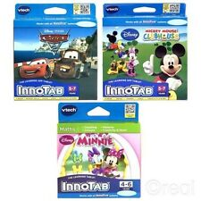 VTech InnoTab Mickey Mouse Clubhouse Minnie Ou Cars 2 Jeux Disney Officel