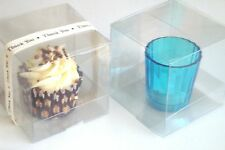 Clear PVC Single Cupcake Boxes With Free Removable Inserts - 8.5cm Cube