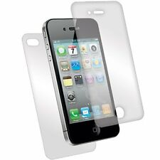 Premium Front & Back Tempered Glass Guard Screen Protector Apple iPhone 4/4S