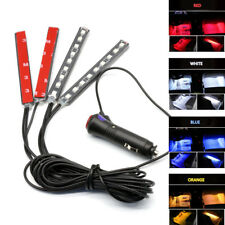 4X 12V 12 LED Car Interior Atmosphere Decorative Light Neon Lamp Strips Bulbs