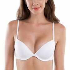 Women's Smooth Lightly Padded Underwire Essential Plung T-Shirt Bra