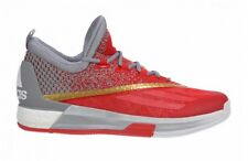 adidas Mens Crazylight Boost 2.5 Low Basketball Trainers Shoes Sneakers Red