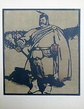 William Nicholson (1872-1949) 1st edition 1898 lithograph 'Drum Major'