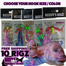 10 Snapper Rig  Paternoster Tied Reedy's By Snatchers Circle Hook Bait Tackle