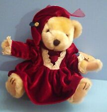 Plush, Brass Button Pearl Teddy Bear Doll, 9