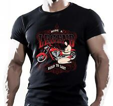 Ride a Legend Built To Last Motorcycle Bike Rider Chopper tshirt tee