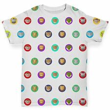 Zoo Animals Dots Pattern Baby Toddler Funny ALL-OVER PRINT Baby T-shirt