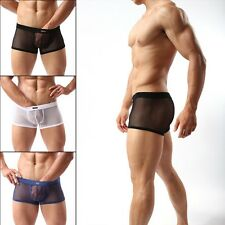 Sexy Boxers Briefs Men's Sheer Breathable Shorts Trunks Underpants Underwear