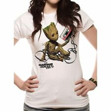 Women's Guardians of The Galaxy Groot and Tape T-Shirt