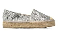 Donna Mustang Shoes Brouw Scarpe Di Corda Argento
