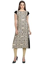 Ziyaa Women's Grey Colour Digital Print Crepe Kurti (ZIKUCR1421)