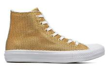 Donna Converse Chuck Taylor All Star Ii Hi Perf Metallic Leather Sneakers Oro E