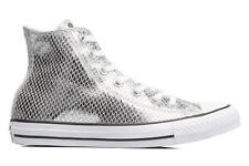 Donna Converse Chuck Taylor All Star Hi Metallic Snake Leather Sneakers Argento