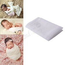 Infant Newborn Baby Lace Wrap Swaddle Cloth Photography Photo Props Outfits