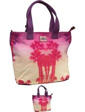 SVENDITA Superdry Womens Summer Time Tote Bag Palm Beach Purple One Size Large