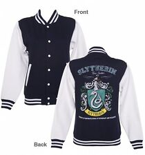Official Women's Navy Harry Potter Slytherin Team Quidditch Varsity Jacket
