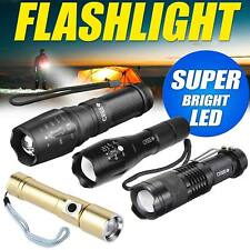 Latest LED Flashlight Zoomable Adjustable Torch Lamp Police Tactical Light UK