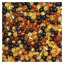 Baltic Amber Loose Beads 100 Pcs - Multicolored - 100% Genuine Baltic Amber...