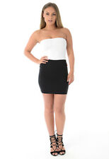Ladies Womens Girls Jersey Office School Mini Tube Skirt  Dress UK 8-16