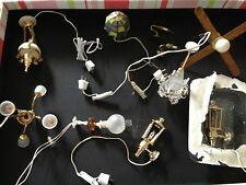 New Dollhouse Lights -Lot of 10-Ceiling, Wall, Table