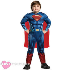 CHILD DELUXE SUPERMAN COSTUME OFFICIAL LICENSED KIDS SUPERHERO MUSCLE CHEST