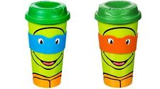 Teenage Mutant Ninja Turtles Travel Mugs. TMNT Coffee Tea Kitchen Kids