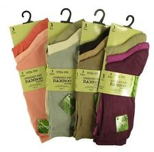 VARIOS COLORES MULTIPACK Mujer Deluxe BAMBOO Súper Suave extra FINO Calcetines