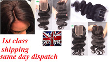 "7A VIRGIN REMY BRAZILIAN HUMAN HAIR 4X4 LACE TOP CLOSURE BODY WAVE 10""-20"""