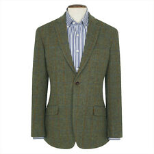 New Mens Brook Taverner Authentic Sollas Harris Tweed Jacket - Green - All Sizes