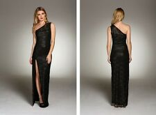 New HONOR GOLD Lace BNWT £75 One Shoulder Celebrity Party Long Gown Maxi Dress