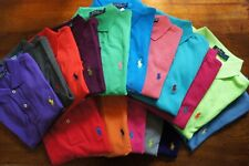 RALPH LAUREN POLO MEN CLASSIC SHORT SLEEVE GREEN ORANGE PINK XS S M L XL XXL